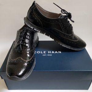 Cole Haan Zero Grand Black Patent Leather SZ7